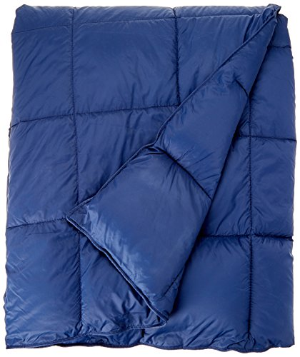 Premier Comfort Packable Down Alternative Luxury Throw Navy 50x60    Premium Soft Cozy Lightweight Nylon For Bed, Couch or Sofa ()