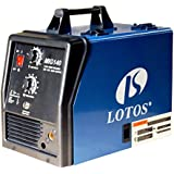 Lotos MIG140 140 Amp Mig Wire Welder Flux Cored and Aluminum Gas Shielded Welding Blue/Black