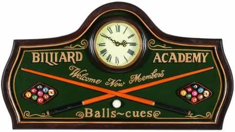 RAM Gameroom Productos Pub Sign con Reloj, Academia de Billar ...