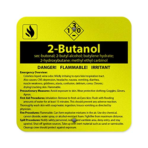Aluminum Weatherproof Metal Sign Multiple Sizes 2-Butanol Sec-Butanol; 2-Butyl Alcohol; Butylene Hydrate; 12INx12IN Square Street Signs One - Alcohol Butyl