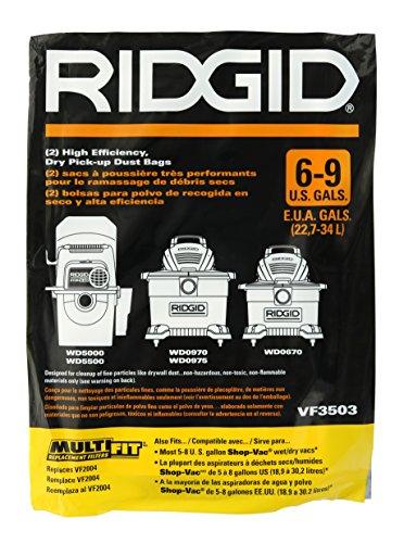 Ridgid VF3503 Bags for 6-9 Gallon Ridgid Vacuums