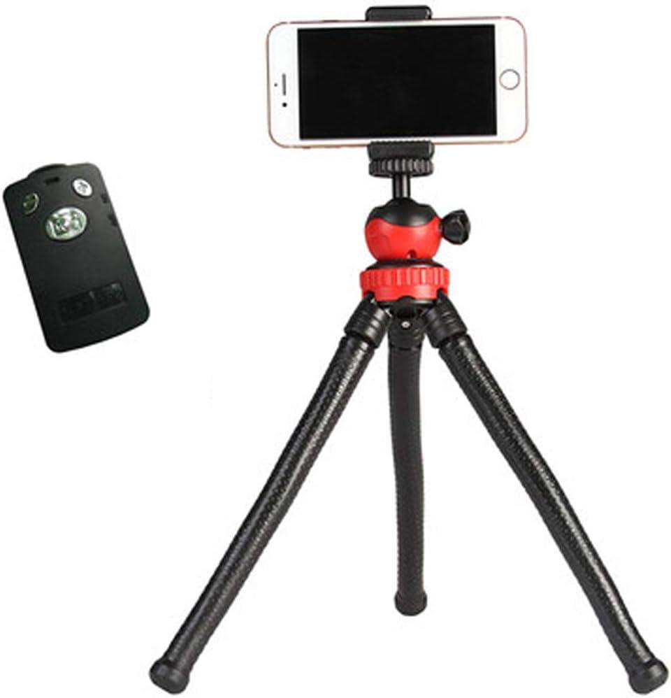 CJGXJZJ Travel Tripod Flexible Camera Phone Tripod Octopus Tripod for Canon Nikon Sony Camera Stand Mini Desktop Tripod Black Design : B