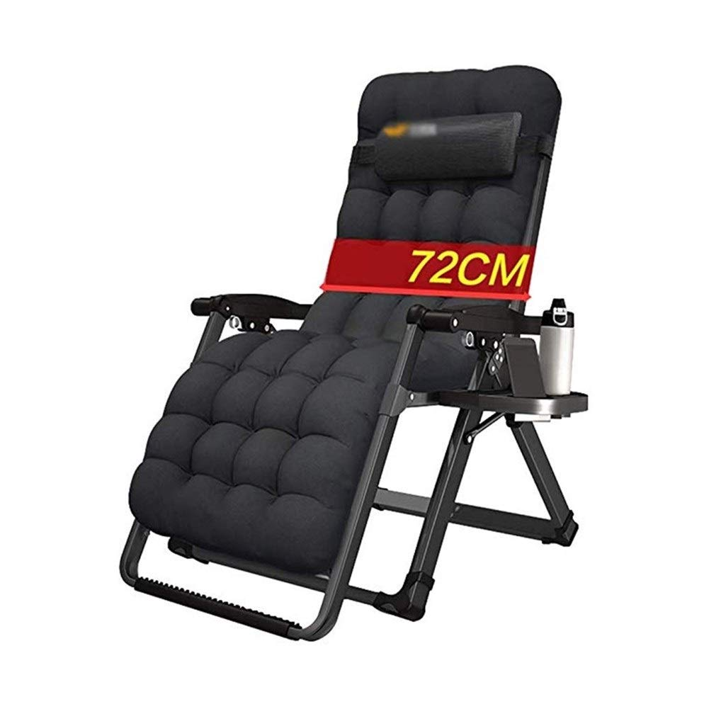 YYTLTY Foldable Garden Lounge Chair,Portable Beach Chair,Zero Gravity Chair,Suitable for Outdoor Camping Garden Terrace,All Seasons Can Be Used (Color : Black2) by YYTLTY