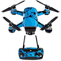 Skin for DJI Spark Mini Drone Combo - Blue Skulls| MightySkins Protective, Durable, and Unique Vinyl Decal wrap cover | Easy To Apply, Remove, and Change Styles | Made in the USA