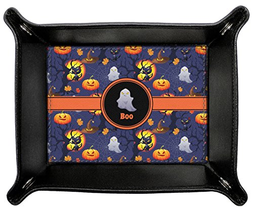 Halloween Night Genuine Leather Valet Tray (Personalized) by RNK Shops