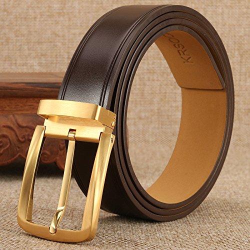 LLZPD Cinturón Hombre hebilla cinturón hebilla de cobre cinturón de ... 910d9b3aa570