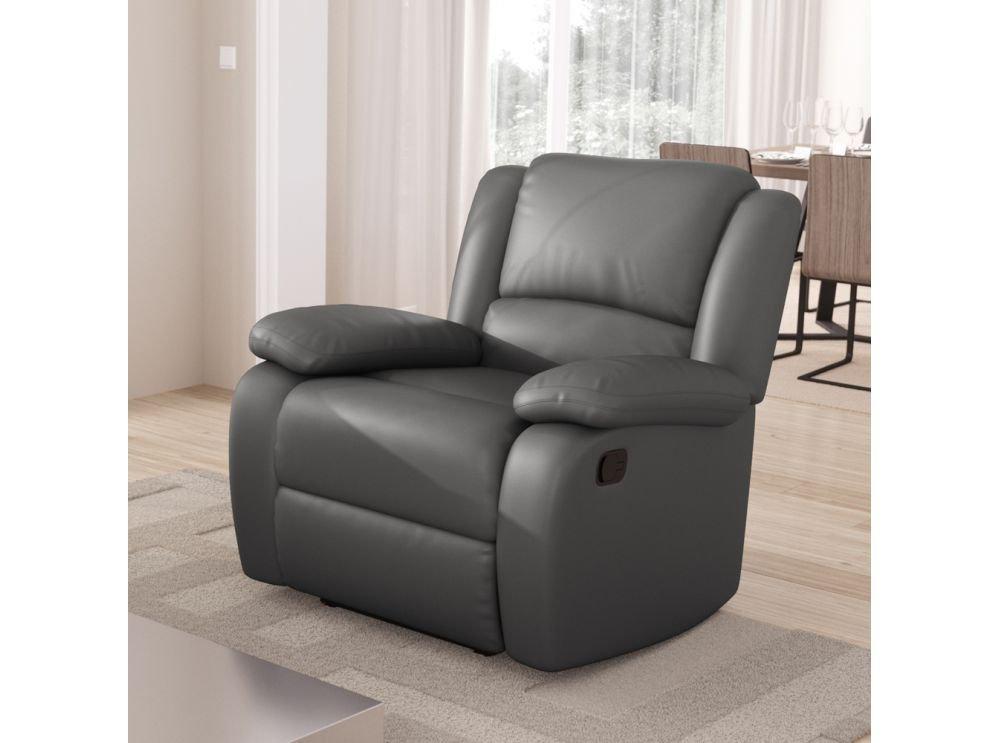 Usinestreet Fauteuil Relaxation 1 place Simili cuir DETENTE - Couleur -  Noir 3700538205676. Agrandir l image 067afccfec61