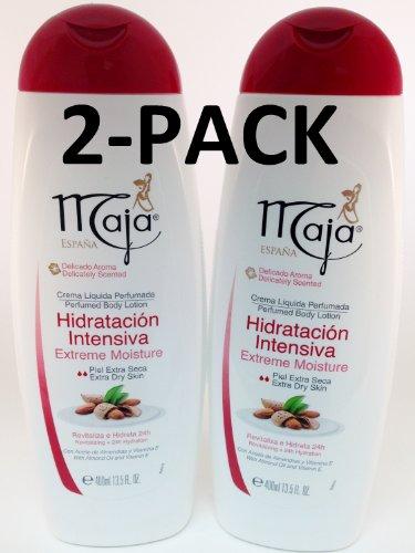 Maja Perfumed Body Lotion Extra Dry Skin Perfumado 13.5 oz. 2-PACK -  Myrurgia, 254349