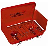 Basecamp by Mr. Heater Two Burner Stove (Red)