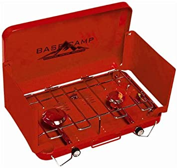 Basecamp by Mr. Heater Two Burner Stove Red