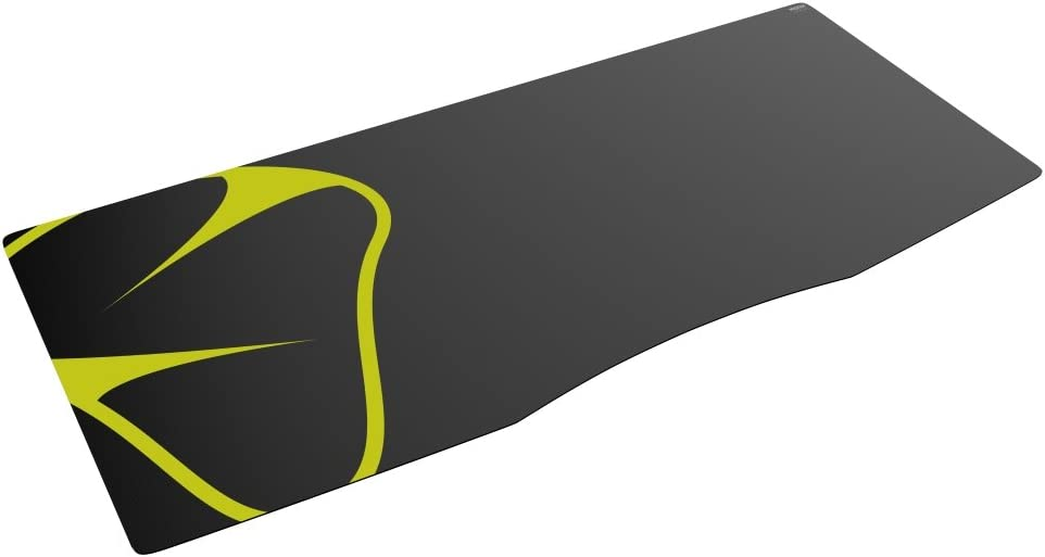 Mionix Sargas Double Extra Large XXL Gaming Desk- MousePad (47.25 x 19.7 x 0.10 Inch), Speed Surface, Black and Yellow