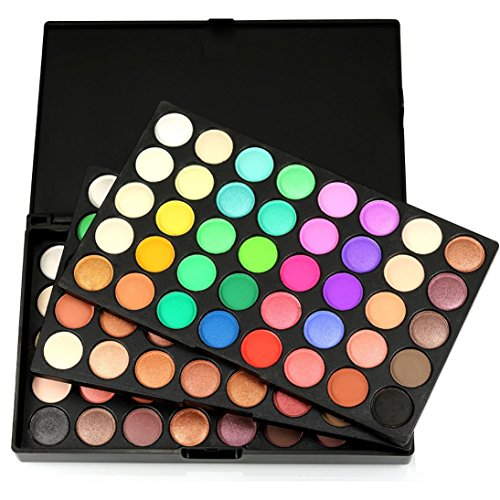 1 Eye Palette - 120 Colors Eye Shadow Powder Matte Eyeshadow Palette Kit, Staron Shimmer Eye Shadow Cosmetic Glitter Palette Makeup Set Eyeshadow (A)