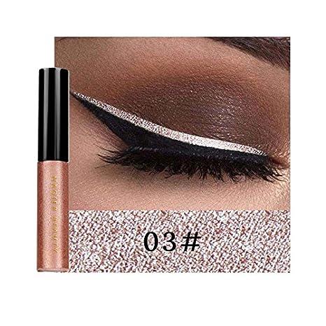Oshide 6 Farben Eyeliner Glitzer Wasserdicht Schimmer Pigment Metallic Liquid Glitters Eyeliner Oshidede