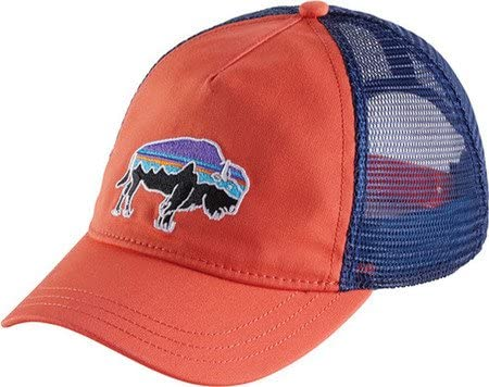 Patagonia mujer Fitz Roy Bison LAYBACK Trucker gorro, Carve Coral ...