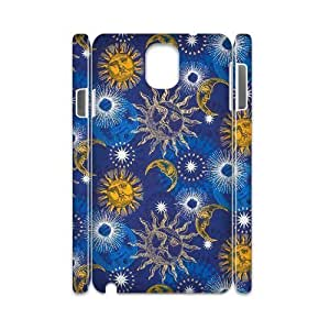 Sun Moon Pattern Unique Design 3D Cover Case for Samsung Galaxy Note 3 N9000,custom cover case ygtg543801