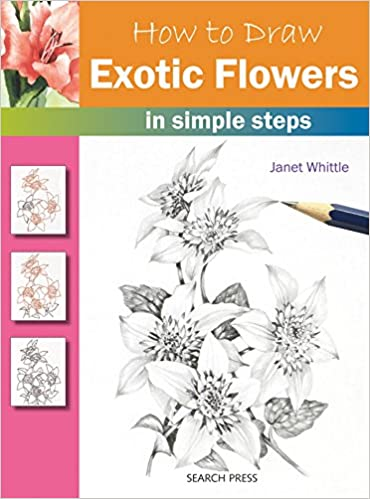How To Draw Exotic Flowers Janet Whittle 9781844486366 Amazon Books