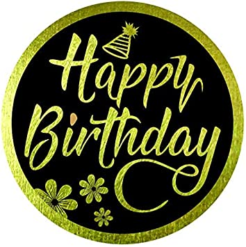 Amazon.com: Pegatinas de felicitación de cumpleaños con ...