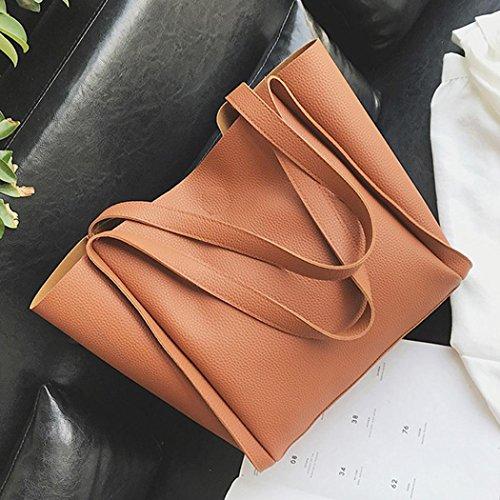 de Bolsa Hombro Niñas marrón Para Mochila Cuero De Mujer Bolso A Movil Compras ESAILQ Multiusos nHpIqwaE