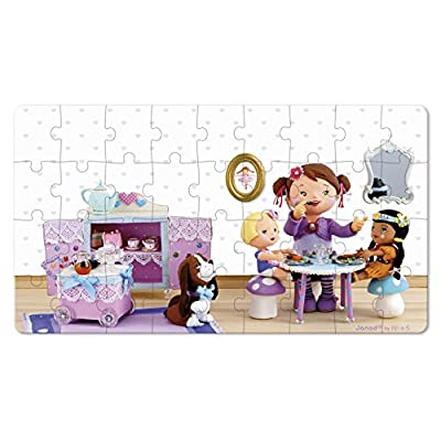 Janod Jura Toys J02769 Lola Plays at Tea Parties Lovely Puzzle: Toys & Games