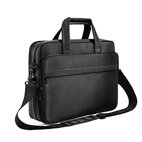 (Laptop Briefcase 15.6 Inch Business Office Bag Laptop Bag for Men Women, Expandable Waterproof Stylish Nylon Multi-functional Laptop Shoulder Messenger Bag Computer Bag fit for Notebok Macbook Hp Dell)
