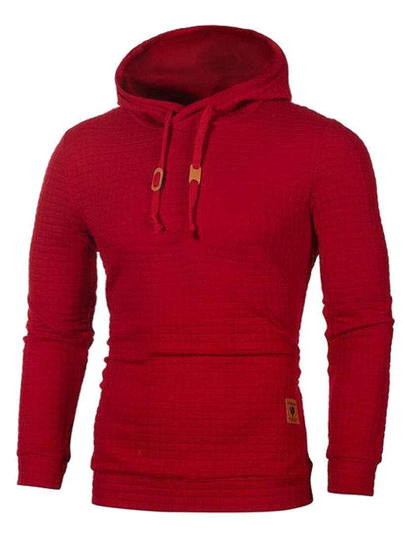 Etecredpow Mens Pullover Long Sleeve Casual Hooded Sport Drawstring Sweatshirt