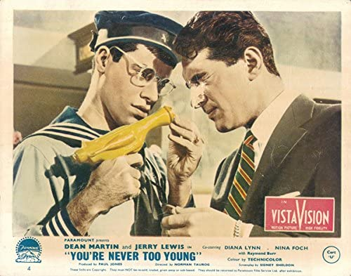 Amazon.com: You're Never Too Young original lobby card Jerry Lewis ...