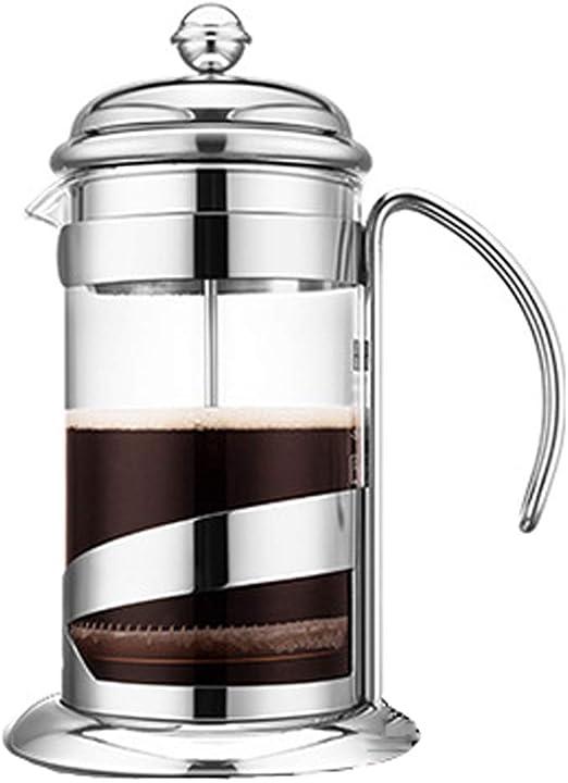 Cafetera Francesa de presión Caldera de Cristal Resistente al ...
