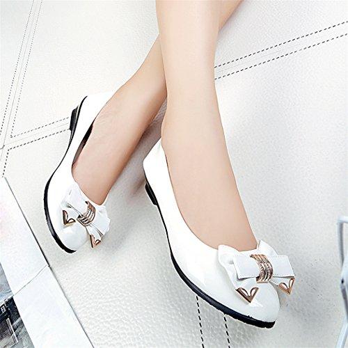 Femmes Toe Blanc Chaussures Mode À Plates Printemps Fami Talon Lacets Plat 0xg6ga
