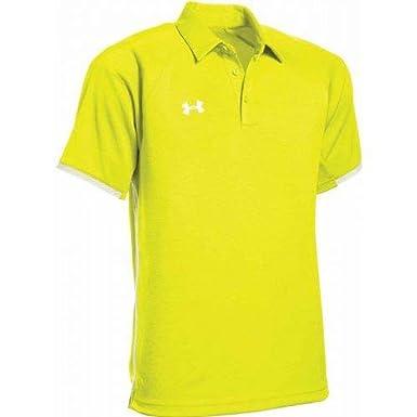 Under Armour Mens UA Rival Polo (Medium, High Vis Yellow): Amazon ...