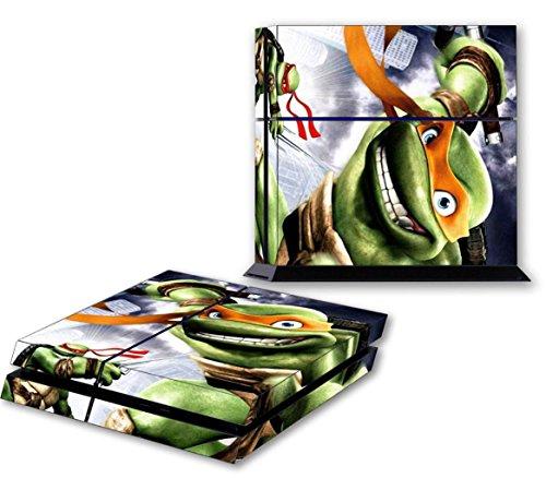 NINJA TURTLES PS4 Skin Vinyl Decal PlayStation 4 Sticker TMNT Michelangelo 079 (Ninja Turtles Ps4 compare prices)