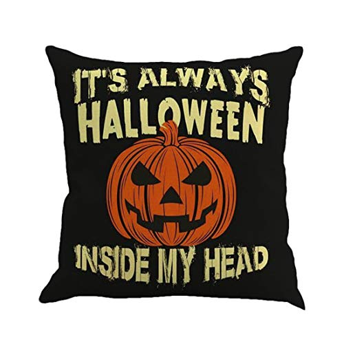♫ Toponly Happy Halloween Pillow Cases Linen Sofa Cushion Cover