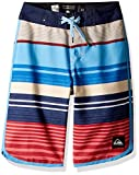 Quiksilver Big Boys' Eye Scallop Youth 19 Boardshort Swim Trunk, Mineral Red, 28/14