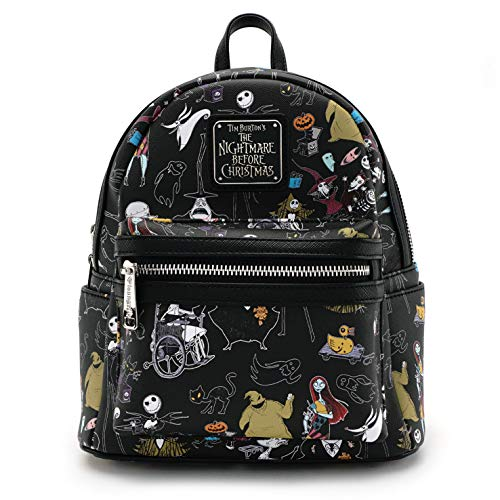 Loungefly Nightmare Before Christmas All Character Mini Backpack Black