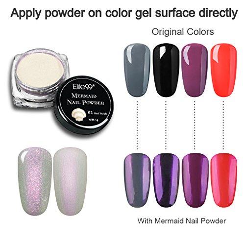 Elite99 Mermaid Nail Powder Gradient Shimmer Glitter UV Gel