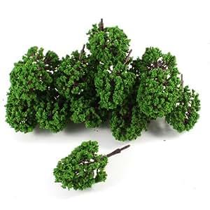 Boutique 20pcs Artificial Plastic Green Leaf Model Tree