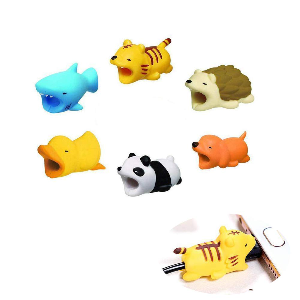 Cable Bite, Suithink 6pcs Cute Animal USB Data Cable Anti-Break Protector for iPhone USB Cable Cord