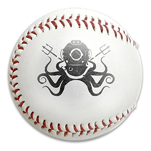 Octopus Diving Helmet Scuba Dive Durable Print Practice Competitions All-American Youth Baseballs Keepsakes ()