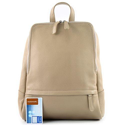 T138 Pelle Ital In Beige Zaino Citybag Borsa De Donna Modamoda vAqw8TSx