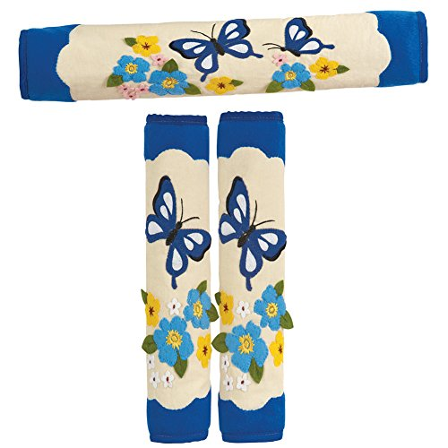 Butterfly Appliance Handle Covers - Set Of 3, Blue