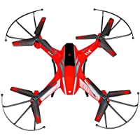 RC TOYS, Yamally_9R YD- A8 4CH 6-Axis Gyro 0.3MP Camera RC Quadcopter 360° Flips Airplane Toy (Red)