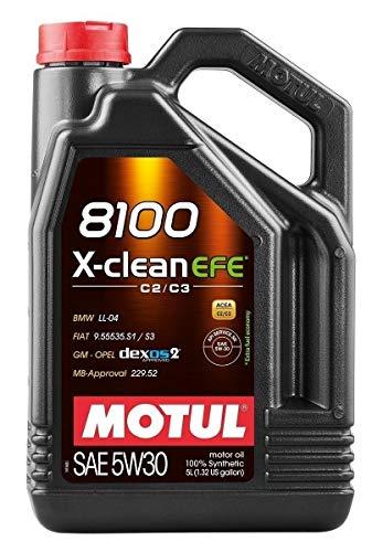 Motul 107206 8100 5W30 X-Clean EFE Synthetic Engine Oil-LL04-229.51-502 00-505 00-5-Liter, 169.05 Fluid_Ounces