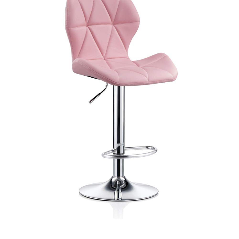 Pink PU 4860cm ZHAOYONGLI Barstools,Stools Kitchen Bar Stools Adjustable Breakfast Bar Stools Swivel Gas Lift Chrome Footrest and Large Base (color   Green+Imitation Cloth, Size   35  40cm)