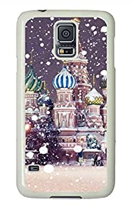 The Snow Castle PC White Hard Case Cover Skin For Samsung Galaxy S5 I9600