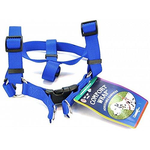 Coastal Pet Products DCP6945BLU Nylon Comfort Wrap Adjustable Dog Harness, 1-Inch, Blue