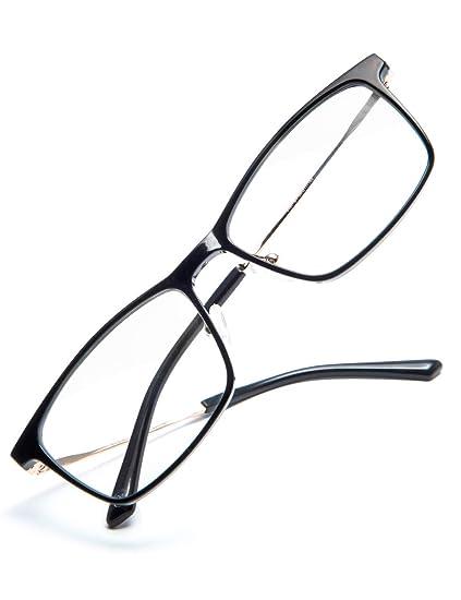 908d509477 VEGOOS Premium Computer Glasses Women Men Blue Light and Glare Blocking  Glasses UV Protection Vintage Eyeglasse (Gold Frame Clear Lens)  Amazon.co. uk  ...