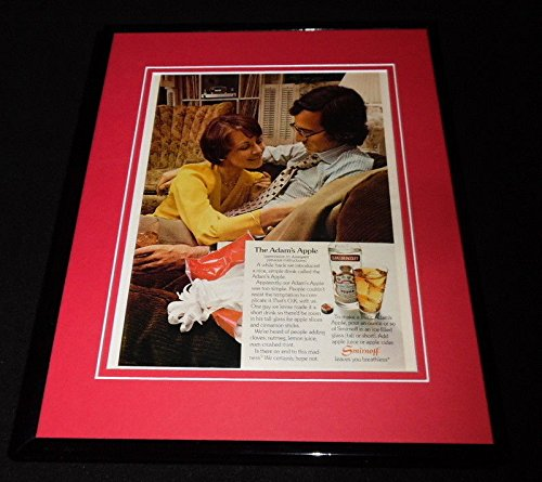 1973 Smirnoff Vodka Adam's Apple Framed 11x14 ORIGINAL Advertisement