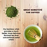 BambooWorx Japanese Tea Set, Matcha Whisk (Chasen), Traditional Scoop (Chashaku), Tea Spoon, The Perfect Set to Prepare a Traditional Cup of