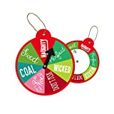 Jillson Roberts BXTS837 Bulk Christmas Whimsy String-Tie Gift Tags Available in 10 Designs, Wheel of Fortune, Pack of 100