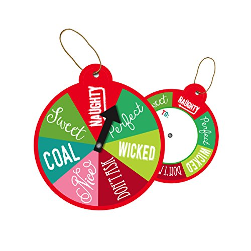 Jillson Roberts BXTS837 Bulk Christmas Whimsy String-Tie Gift Tags Available in 10 Designs, Wheel of Fortune, Pack of 100 by Jillson Roberts