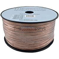 The Wires Zone SWC12-250 Clear Transparent 250, 12 Gauge, AWG Speaker Wire Cable for Car Home Audio
